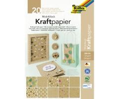 Disainpaberiplokk A4, 230g/m2 ja 120g/m2, 20 lehte- KraftPapier