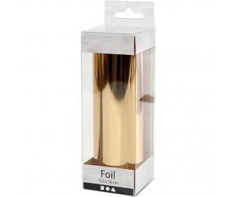 Foolium rullis dekoreerimiseks kuldne, 15,5 cmx50 cm