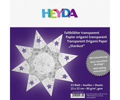 Origami paber Täheke, läbipaistev, 90g/m² 15x15cm  33 lehte