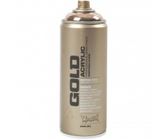 Aerosoolvärv GOLD 400 ml - vask (Copperchrome) - Montana