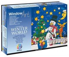 Aknavärvide komplekt Nerchau Winter World - 6 värvi + kontuur