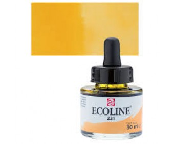 Akvarelltint Talens Ecoline, 30 ml - 231 kuldne ooker
