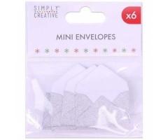 Mini ümbrikud, 3x4,5cm, 6tk pakis - Hõbedased