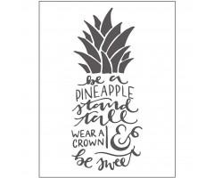Tekstuurplaat 11x14 cm - ananass