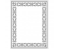 Tekstuurplaat 11x14 cm - raam
