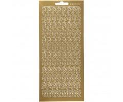 Kontuurkleebis 10x23 cm - ornament, kuld