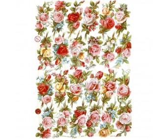 Paberilõiked Die-Cuts - väikesed roosid