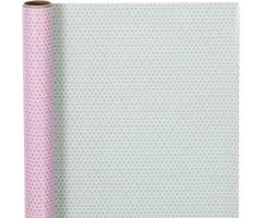 Pakkepaber rullis 50cm x 5m - roosa/hall