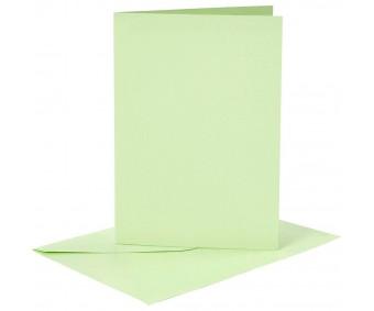 Kaarditoorikute ja ümbrike komplekt A6, 6+6 tk - roheline