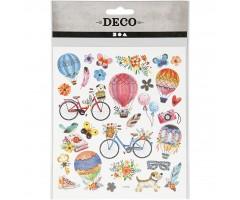 Kleepsud DECO - jalgrattad ja õhupallid