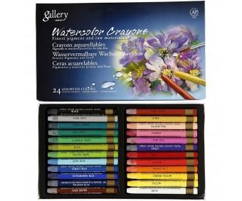 Akvarellkriidid Gallery - 24 värvi
