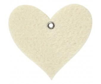 Vildist kaunistused (riputatavad), 5 tk - südamed 7x8cm