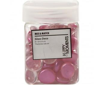 Klaasist kivid 18–20mm, 370g - roosad