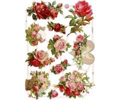 Paberilõiked Die-Cuts - roosid ja tuvi