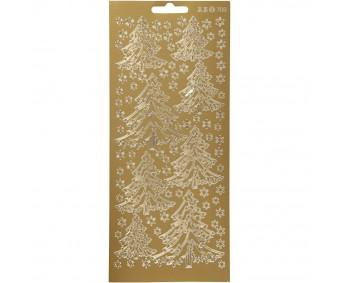 Kontuurkleebis 10x23 cm - kuusepuud, kuld