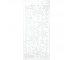 Kontuurkleebis 10x23 cm - lumehelbed, valge