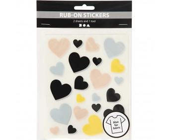 Siirdekleebised Rub-On Stickers - südamed