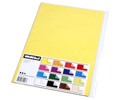 Värvilised paberid ColorBar A4, 100g/m² (kahelt poolelt eri tooni) - 16 lehte