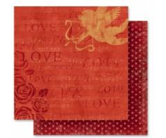 Motiivpaber Folia 30.5x30.5cm, 5 lehte - Romantiline 06