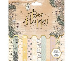 Motiivpaberid Dovecraft 30,5x30,5cm, 48 lehte - Bee happy