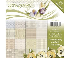 Motiivpaberid 15.5x15.5cm, 24 lehte - Springtime