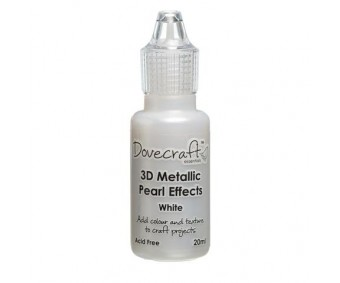 3D pärlipliiats metallik Dovecraft 20ml - valge