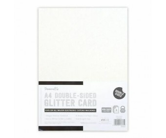Glitter-kartong, kahepoolne, A4, 350g/m² - must-valge