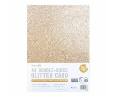 Glitter-kartong, kahepoolne, A4, 350g/m² - roosa kuld
