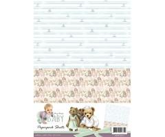 Motiivpaberid Amy Design Baby 10 lehte - purjekad ja karud