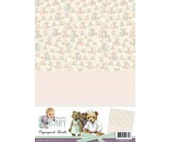 Motiivpaberid Amy Design Baby 10 lehte - täpid ja karud