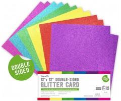 Glitter-kartong, kahepoolne, A4, 350g/m² - 6 erivärvi
