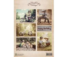 Motiivpaber Nellie's Vintage - Birthday Boys