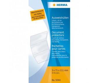 Dokumenditasku läbipaistev - 111x213mm (auto tehnilisele passile)