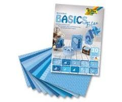 Motiivpaberite plokk Folia Basics 24x34cm, 30 lehte - sinine