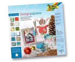 Motiivpaberite plokk Folia 30x30cm, 12 lehte - Jõulud