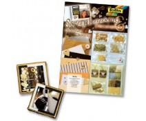 Meisterdamiskomplekt Folia Scrapbooking - Šokolaad