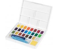 Akvarellvärvide komplekt - 24 värvi + veega täidetav pintsel - Faber-Castell