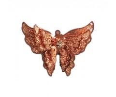 Filigraan 3D liblikas - roosakuld, 34x25mm