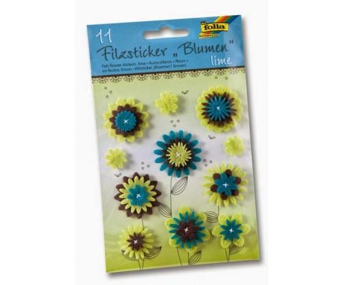 bd6a19f577f Vildist kleebised Folia - Lilled, sinine/roheline