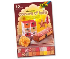 India paberite plokk Colours of India A4, 20 lehte - Mumbai