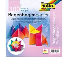 Origami paber Vikerkaar, 100 lehte - 15x15cm