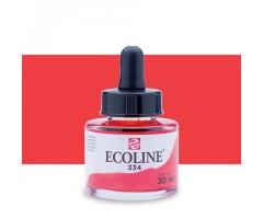 Akvarelltint Talens Ecoline, 30 ml - 334 scarlet