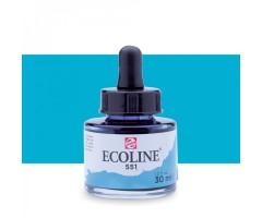 Akvarelltint Talens Ecoline, 30 ml - 551 taevasinine (hele)