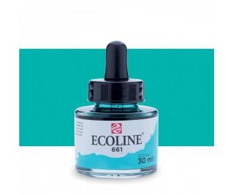 Akvarelltint Talens Ecoline, 30 ml - 661 türkiisroheline