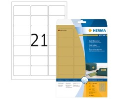 Kuldsed kleebisetiketid Herma - 63.5x38.1mm, 25 sheets