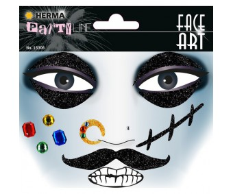 Näokleebis Herma Face Art Decor - piraat
