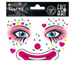Näokleebis Herma Face Art Decor -  kloun