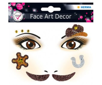 Näokleebis Herma Face Art Decor -  kauboi