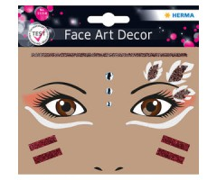 Näokleebis Herma Face Art Decor -  indiaanlane