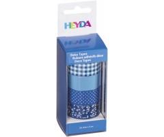 Dekoratiivteip sinine-valge, 15mmx5m, 4k pakis - Heyda
